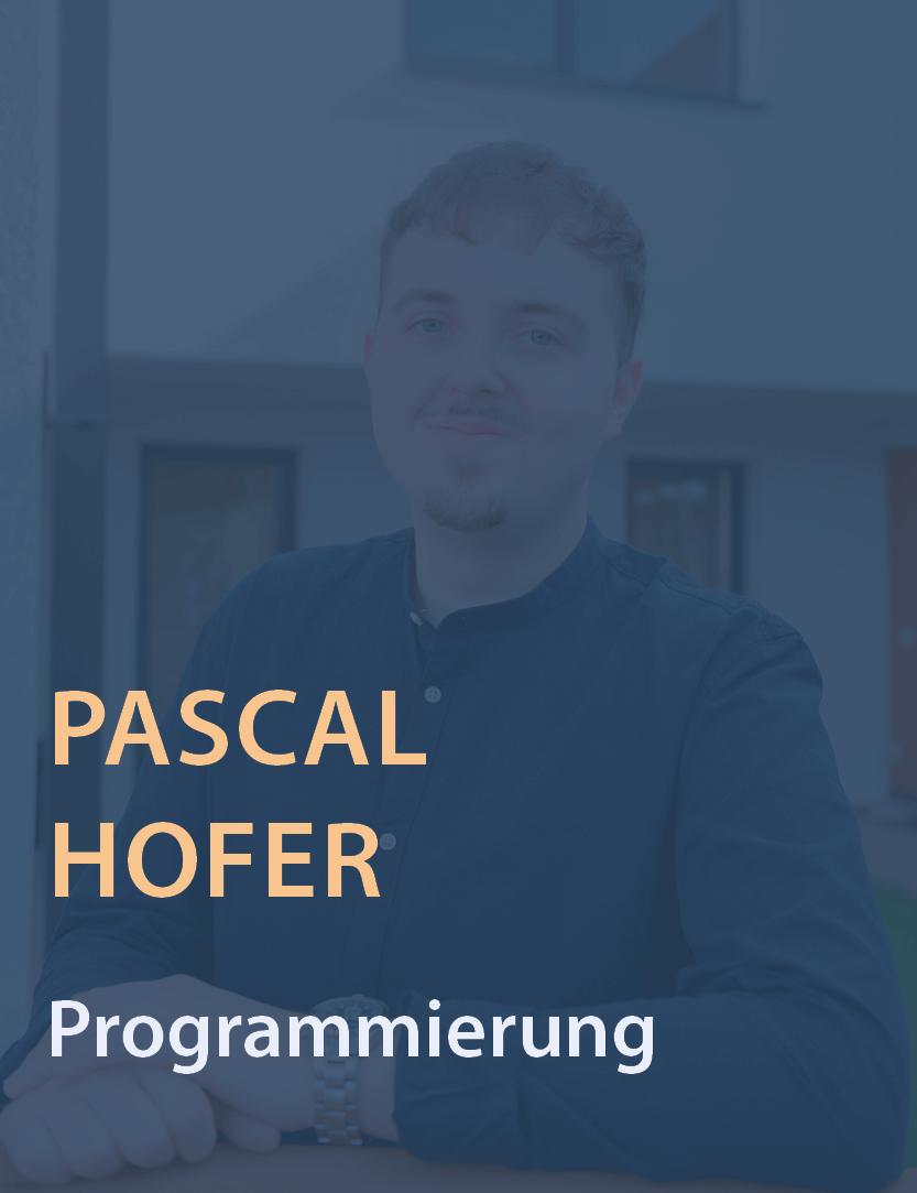 Mitarbeiterfoto Pascal Hofer